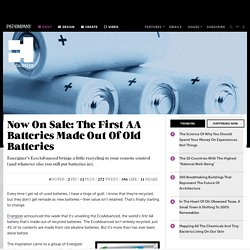 Now On Sale: The First AA Batteries Made Out Of Old Batteries
