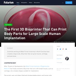 The First 3D Bioprinter That Can Print Body Parts for Large Scale Human Implantation