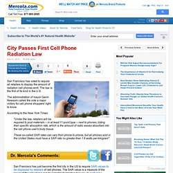 First US City Pass Cell Phone Radiation Law