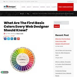 What Are The First Basic Colors Every Web-designer Should Know?