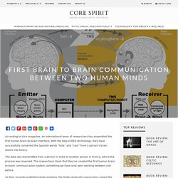 First Brain To Brain Communication Between Two Human Minds