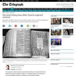 Première édition de 1611 de la King James Bible, retrouvée dans les archives de Cambridge.
