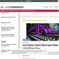 First-Ever Live Drone Light Show At Super Bowl Halftime Show