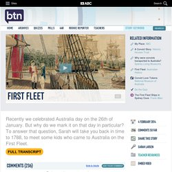 First Fleet: 04/02/2014, Behind the News
