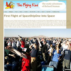 First Flight of SpaceShipOne