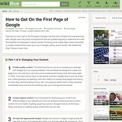 How to Get On the First Page of Google: 8 Steps
