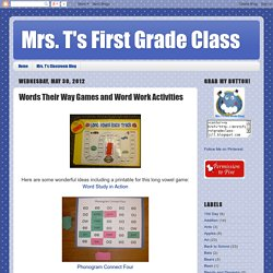 Words Their Way Games and Activities