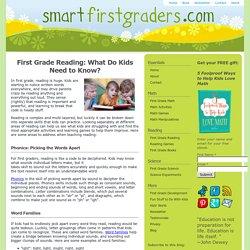 First Grade Reading Skills