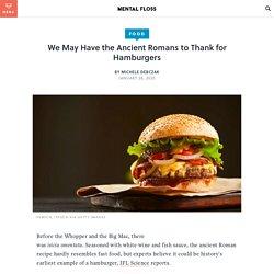 First Hamburger Recipe