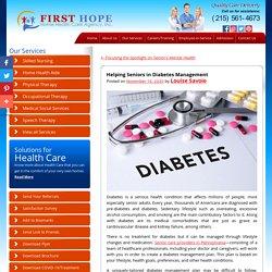 Helping Seniors in Diabetes Management