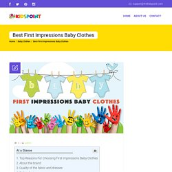Best First Impressions Baby Clothes