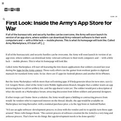First Look: Inside the Army's App Store for War | Danger Room