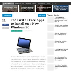 The First 10 Free Apps to Install on a New Windows PC