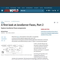 A first look at JavaServer Faces, Part 2