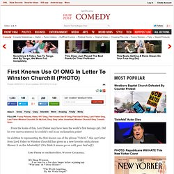 First Known Use Of OMG In Letter To Winston Churchill (PHOTO)