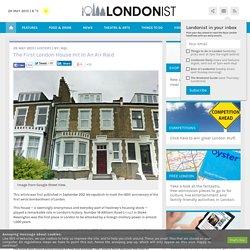 The First London House Hit In An Air Raid