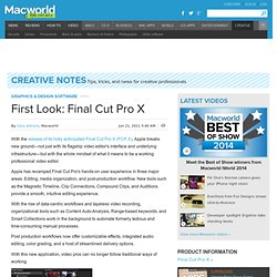 First Look: Final Cut Pro X