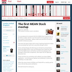 The first MEAN Stack meetup - MEAN Stack (London, England