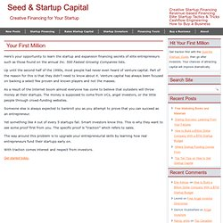The Seed & Startup Capital Blog
