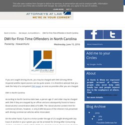 DWI for First-Time Offenders in North Carolina