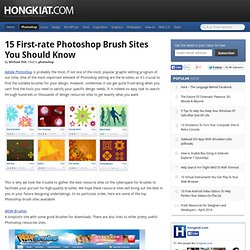 15 First-rate Photoshop Brush Sites You Should Know