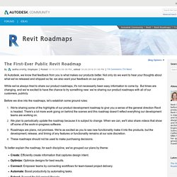 The First-Ever Public Revit Roadmap