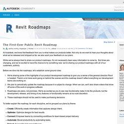 The First-Ever Public Revit Roadmap