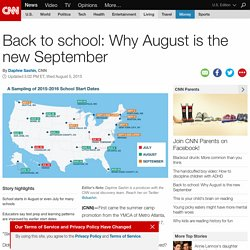 First day of school: Why August is the new September