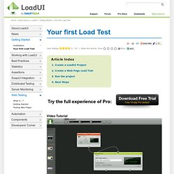 Getting Started with loadUI