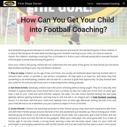 First Steps Soccer - Kids Football Coaching