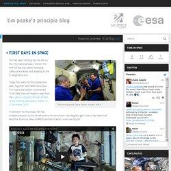 Tim Peake's Principia blog