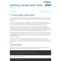 First steps with Chef - Getting started with Chef