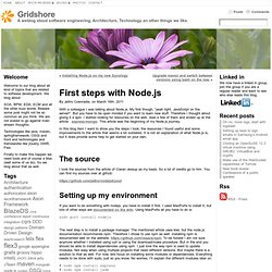 First steps with Node.js