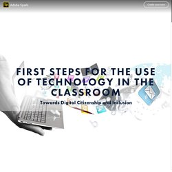 First steps for the use of technology in the classroom