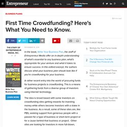 First Time Crowdfunding? Here's What You Need to Know.