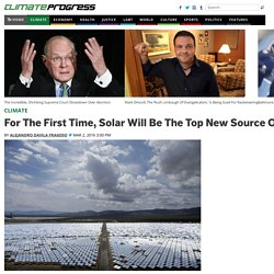 For The First Time, Solar Will Be The Top New Source Of Energy This Year