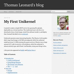 My first unikernel - Thomas Leonard's blog