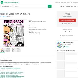 Free First Grade Math Worksheets by My Teaching Pal