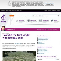 How did the first world war actually end?