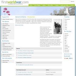 First World War.com - Memoirs & Diaries