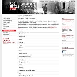 First World War Websites