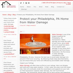 Water Damage Philadelphia, PA