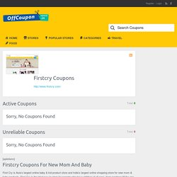 Firstcry Coupons, Promo Code and Discount Offers for February 2018