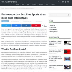 Firstrowsports - Best Free Sports streaming sites alternatives