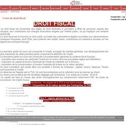 Droit fiscal - Cours de droit - fiches pratiques - info juridique