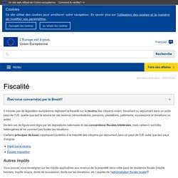 Fiscalité - L'Europe est à vous