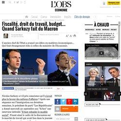 Fiscalité, droit du travail, budget... Quand Sarkozy fait du Macron