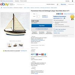 Fischerboot Holz mit Stoffsegel Länge 19cm Höhe 20cm 5171