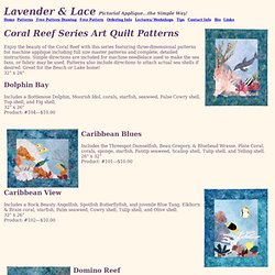 Fish Quilt Patterns, Coral Reef Quilt Patterns