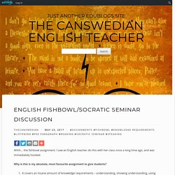English Fishbowl/Socratic Seminar Discussion – The Canswedian English Teacher